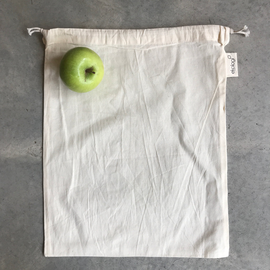 Single reusable organic cotton produce bag, The Ekologi Store, Sydney, Australia