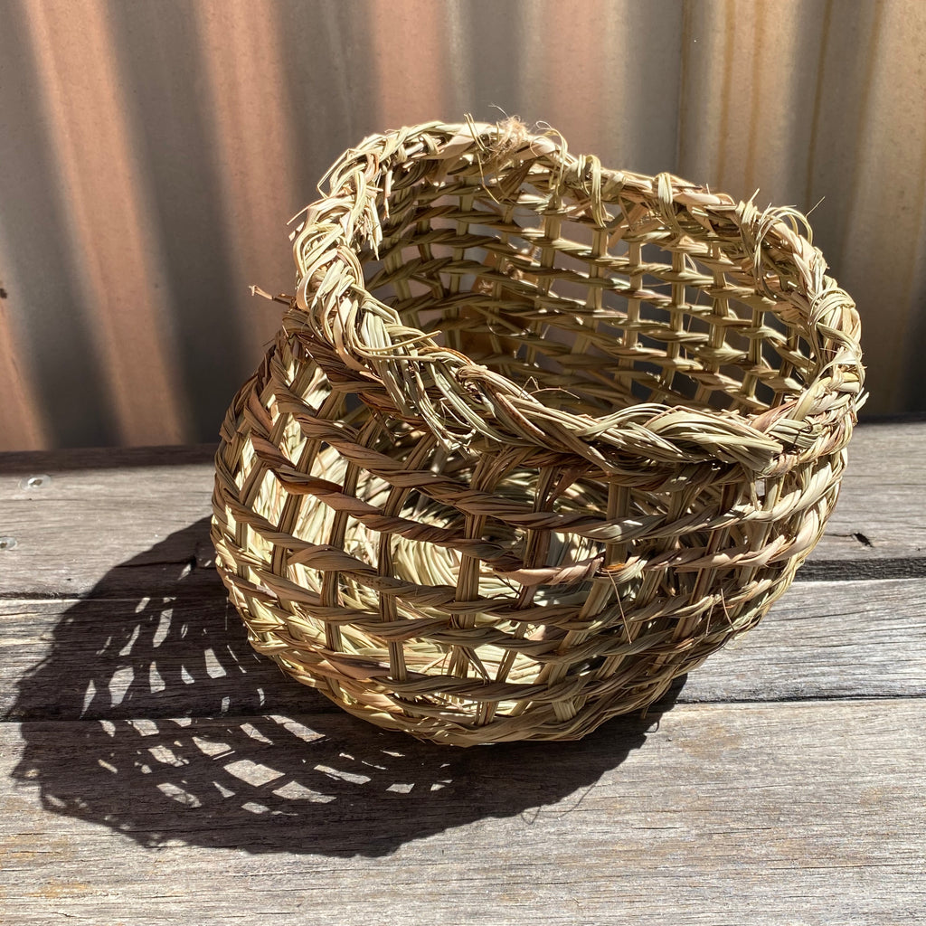 Basketboy Natural Woven Table Baskets