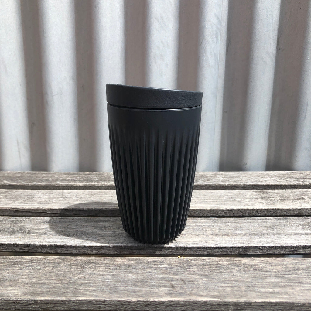 12 oz Black Charcoal Huskee Cups from Asiki, Erskineville, Sydney, Australia