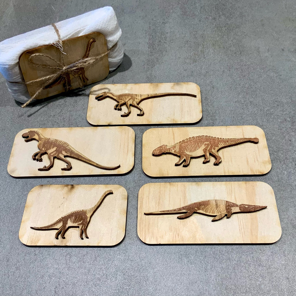 Dinosaur Fossil Stamps (set of 5)
