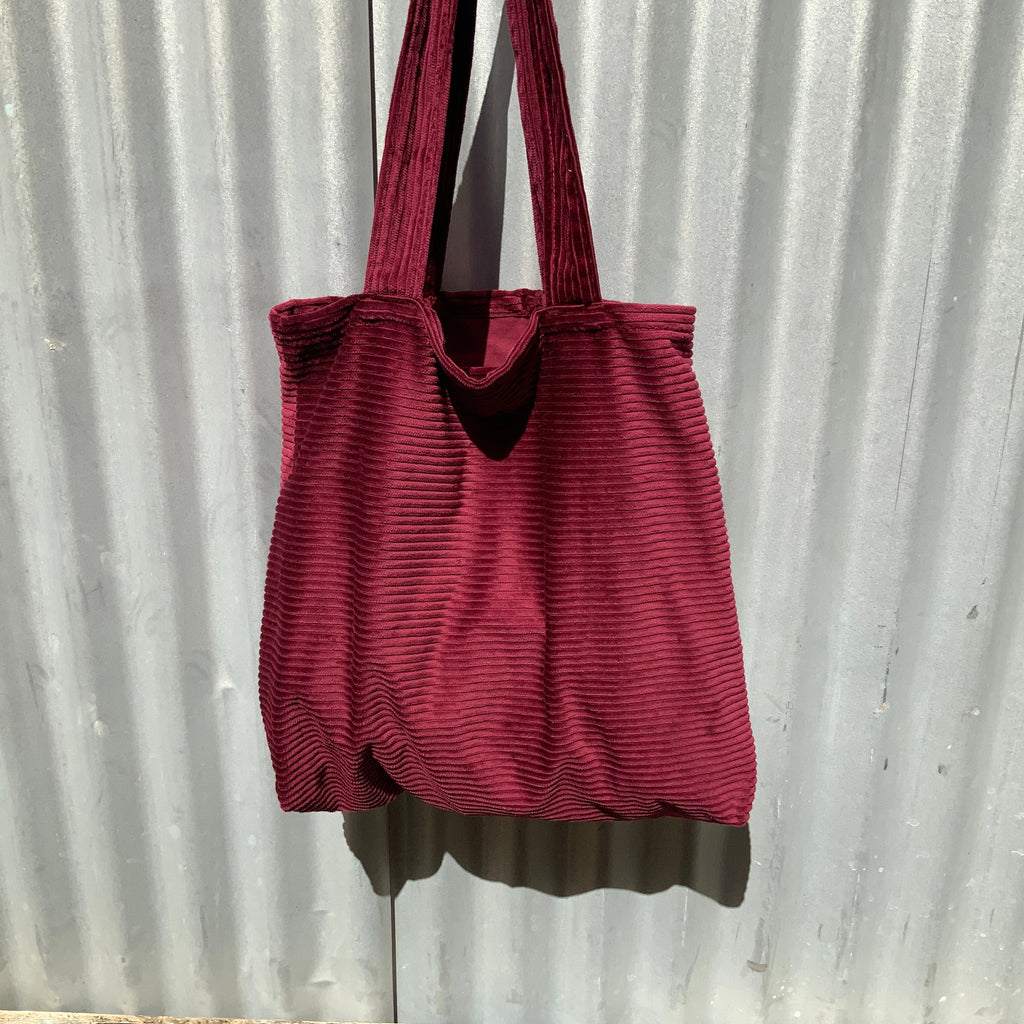 Red Jumbo Large Cord Tote from Asiki, Erskineville, Sydney, Australia