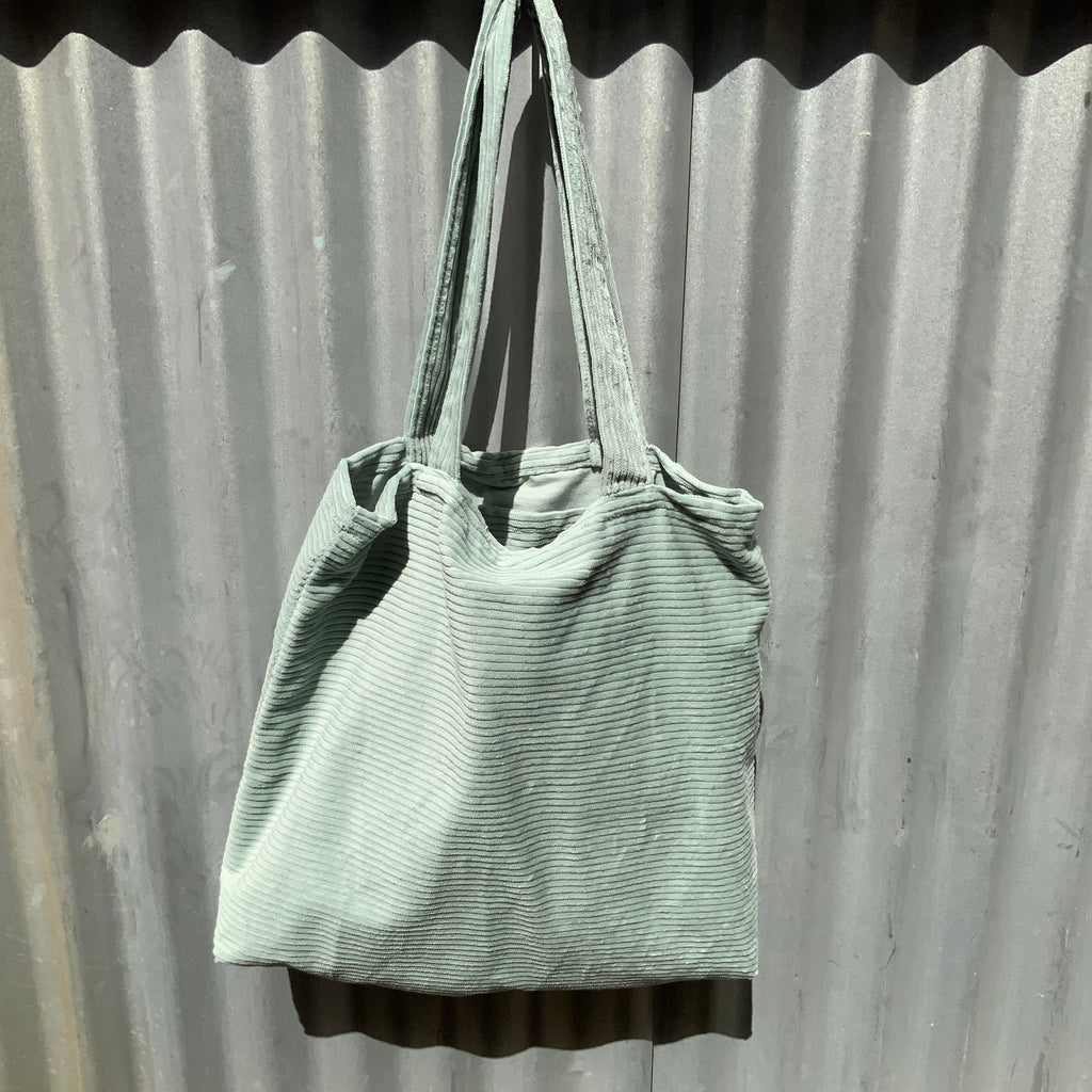 Green Large Cord Tote from Asiki, Erskineville, Sydney, Australia
