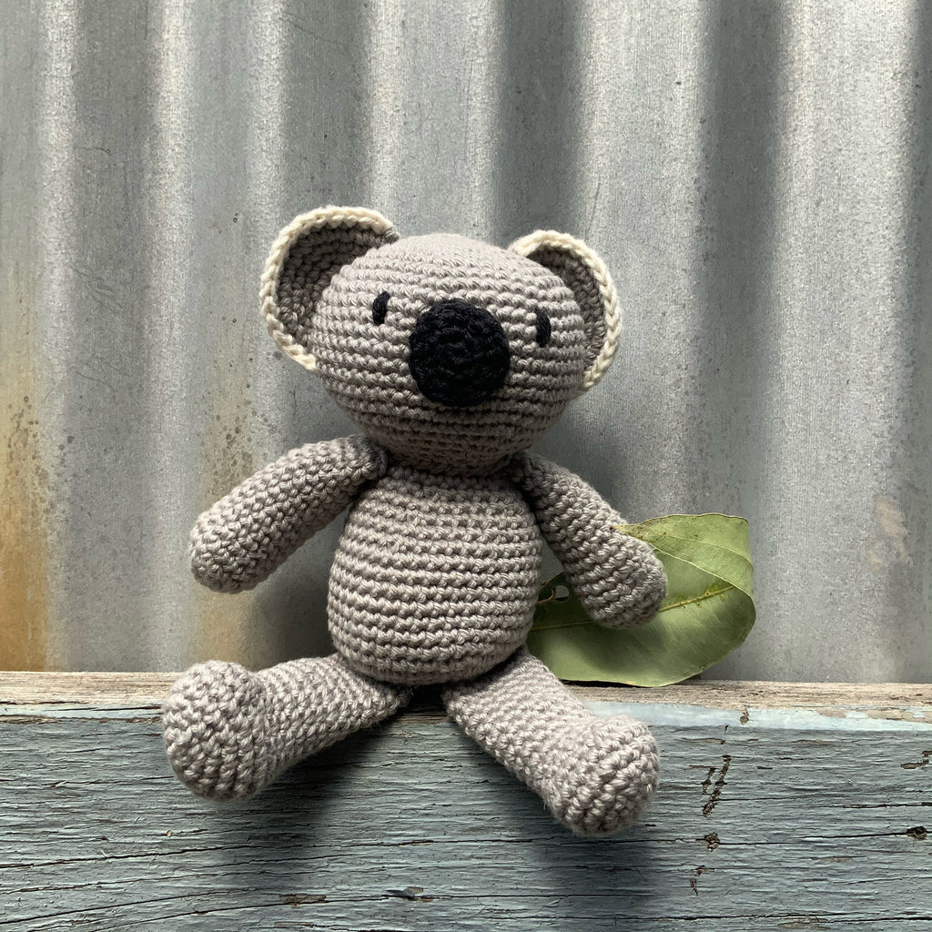 Crocheted Koala Eco Toy - Bazza
