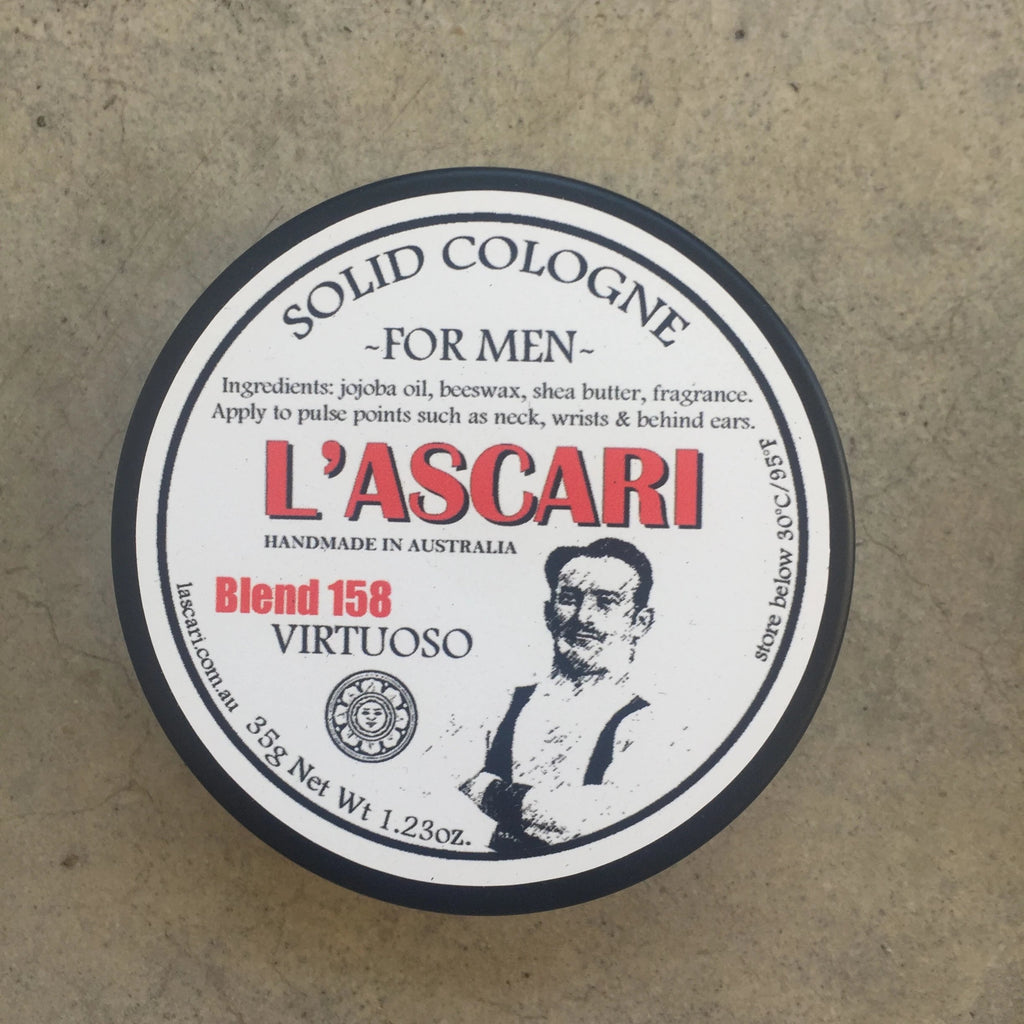 Solid Cologne in tins
