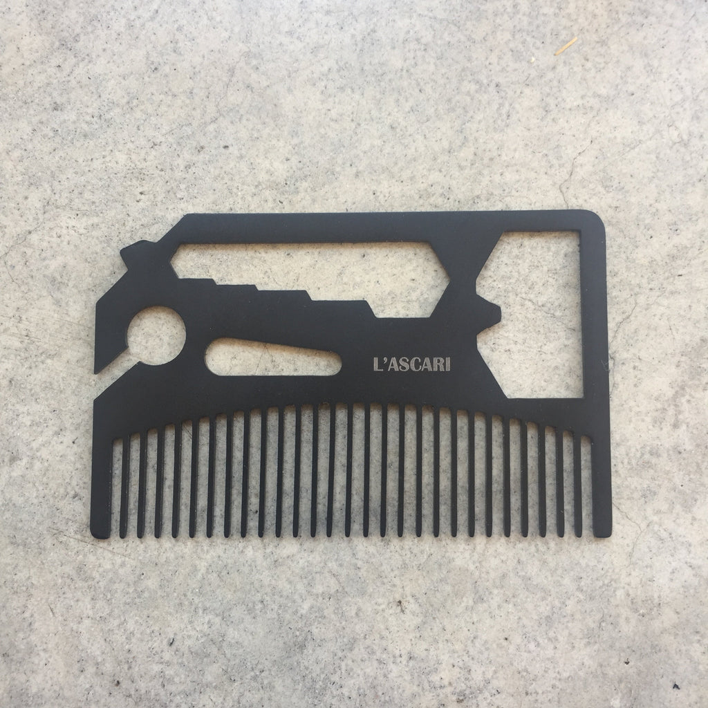 L'ascari Stainless Steel Comb and Multi-Tool from Asiki, Erskineville, Sydney, Australia