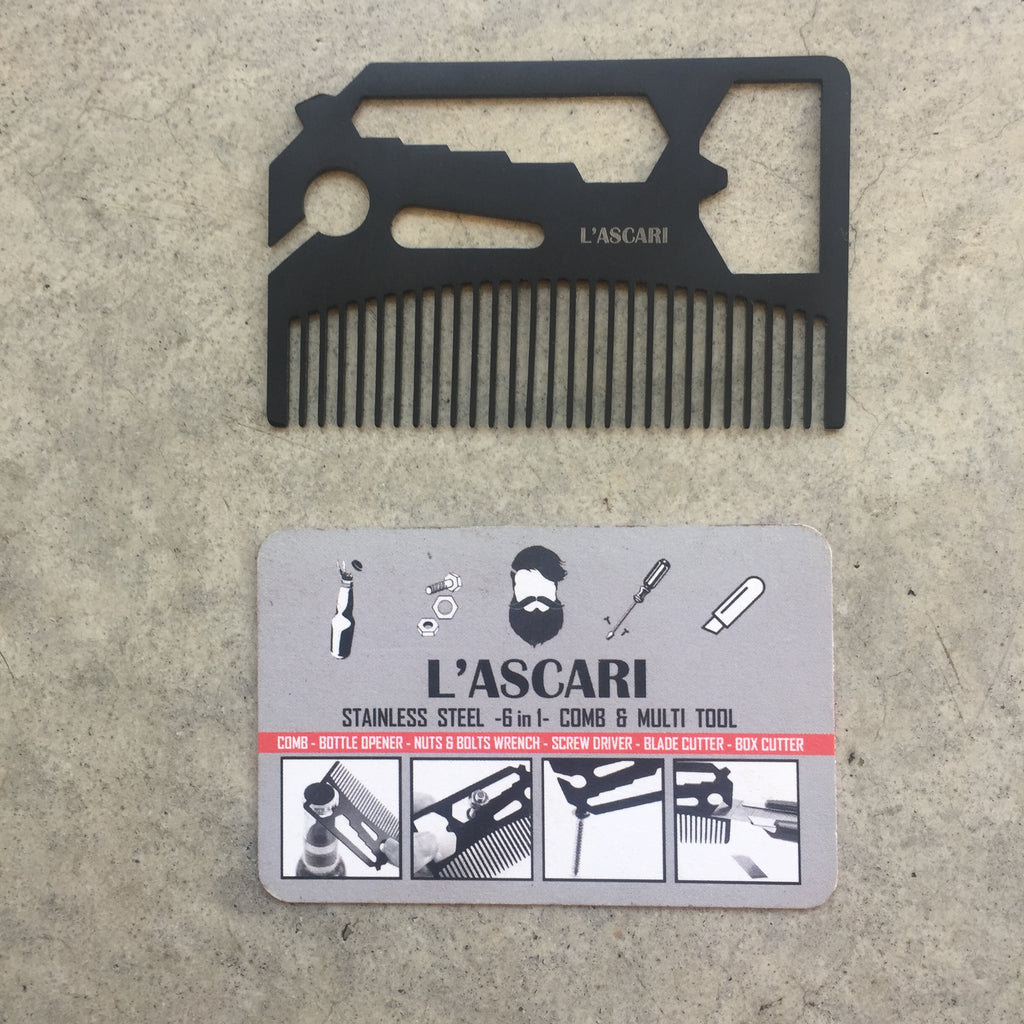 L'ascari Stainless Steel Comb and Multi-Tool from Asiki, Erskineville, Sydney, Australia.