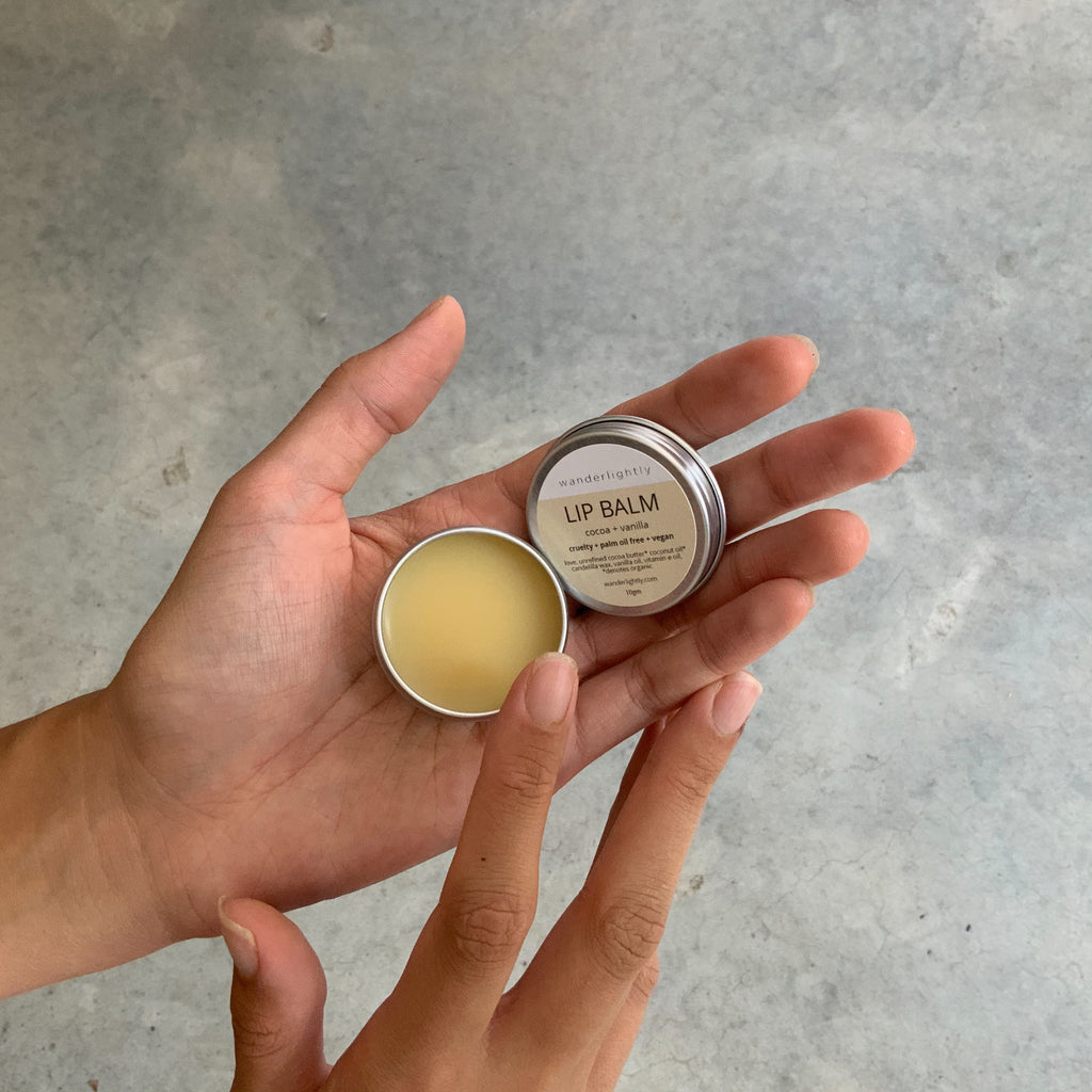 Wanderlightly vegan lip balm from The Ekologi Store, Sydney, Australia