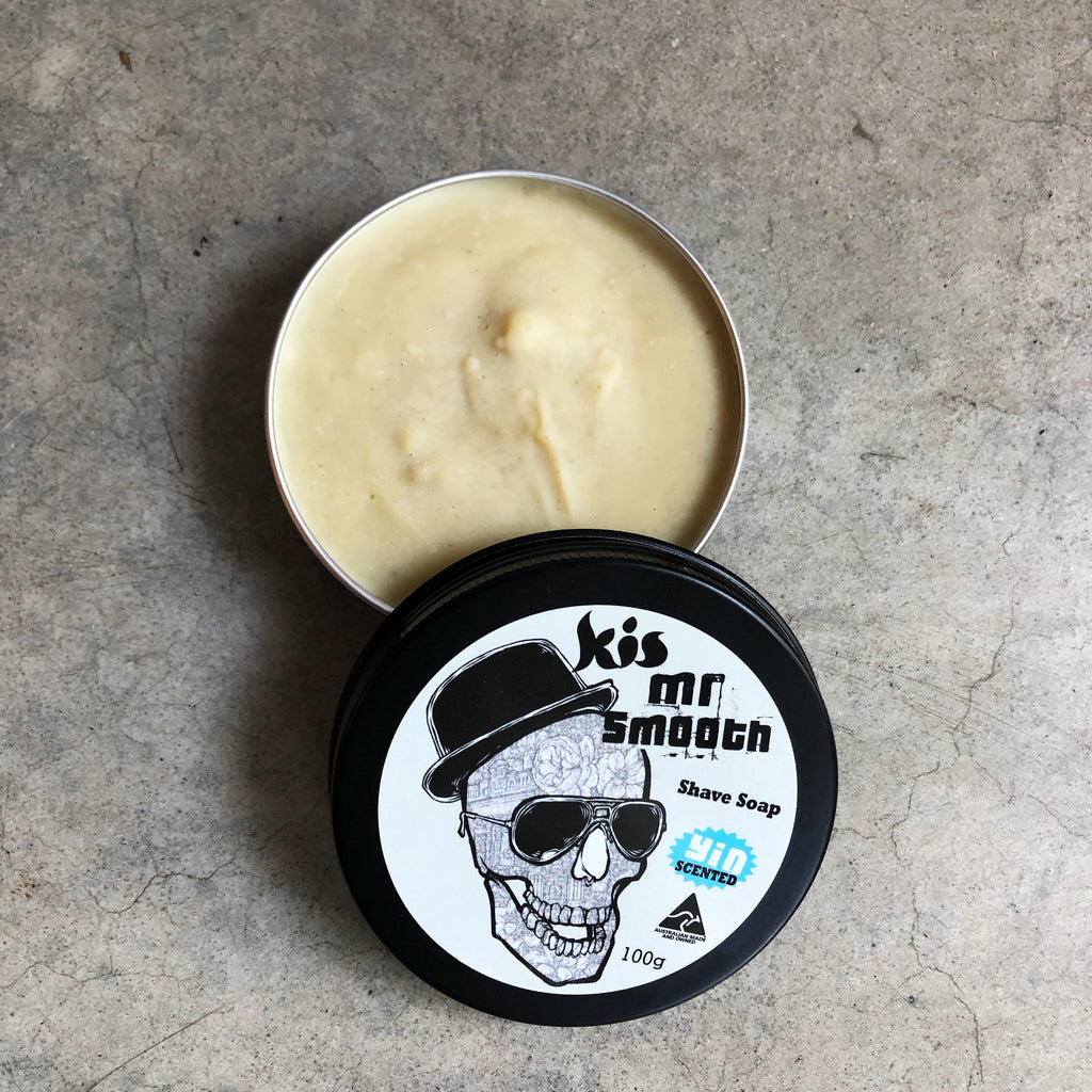100g tin of Mr Smooth vegan Shaving Soap