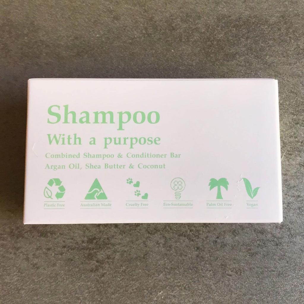 Shampoo with a Purpose Shampoo Bar made in Australia from The Ekologi Store