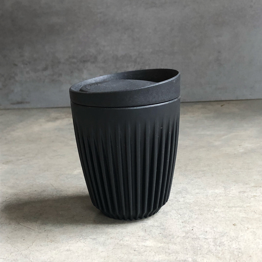 Zero Waste Starter Kit Australia from The Ekologi Store includes a 8oz charcoal HuskeeCup