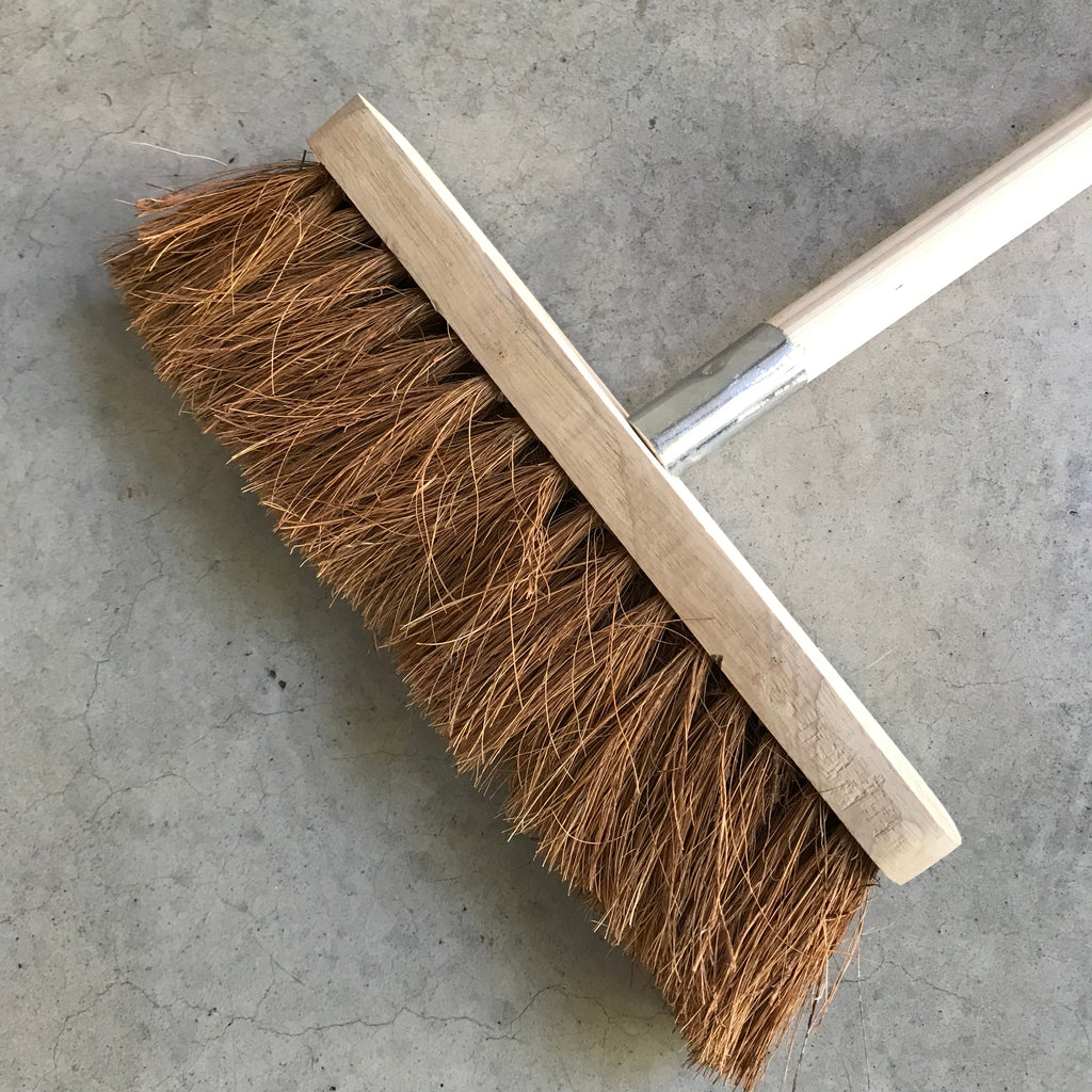 Eco Max Wooden Broom with natural bristles. Plastic free.