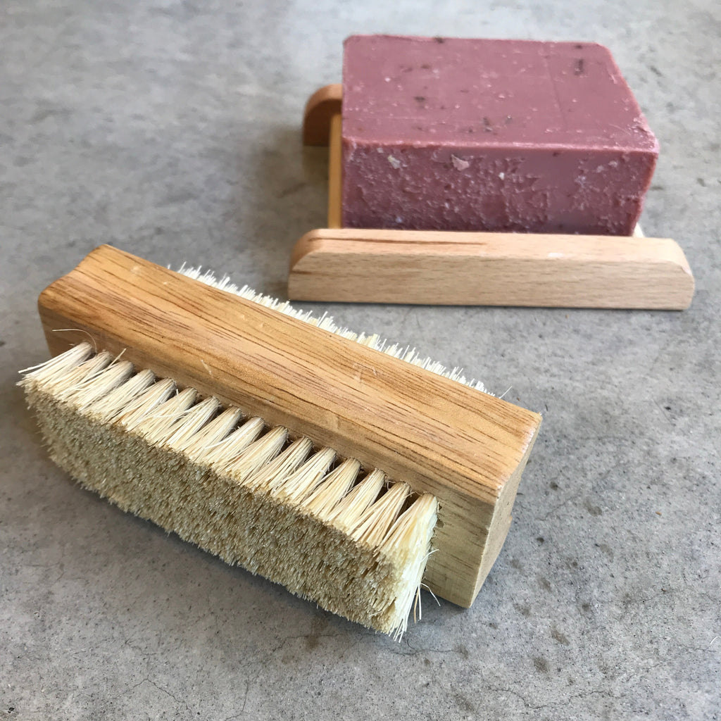 Eco Max Wooden nail and laundry brush from The Ekologi Store, Sydney, Australia