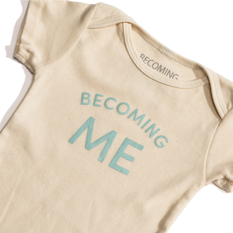 Becoming Me Onesie Blue