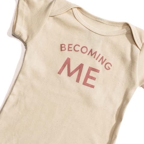 Becoming Me Onesie Pink