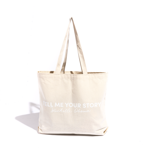 Tell Me Your Story Tote Bag