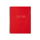 OSCARS LARGE SPIRAL HARDCOVER NOTEBOOK - BRIGHT RED