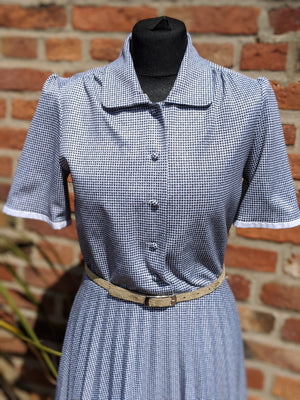 Vintage monochrome 80s tea dress size 12