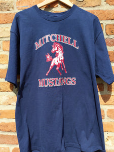 Retro Mitchell Mustangs t-shirt XL