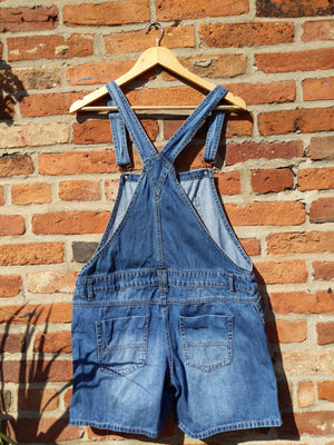 Retro 90s Denim Life short dungarees 38""