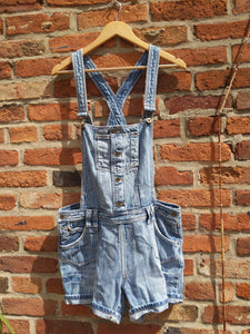 Retro Bik Bok short denim dungarees 36""