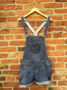 Retro Denim Life short dungarees 36""