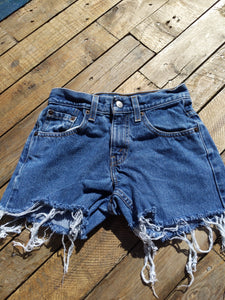 Levi denim shorts 25""