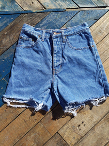 Levi high waisted denim shorts 26""
