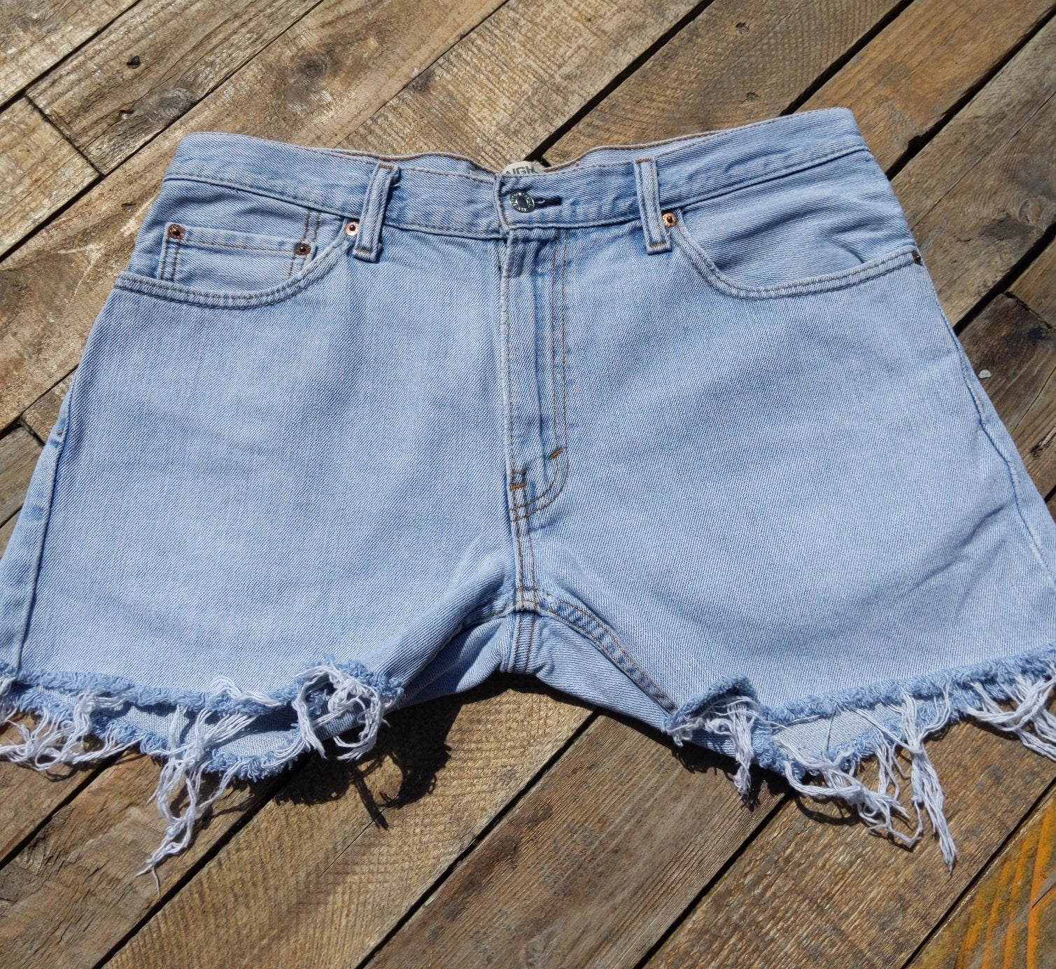Levi denim shorts 34""