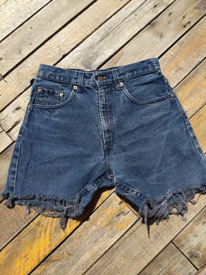 Levi high waisted denim shorts 27""