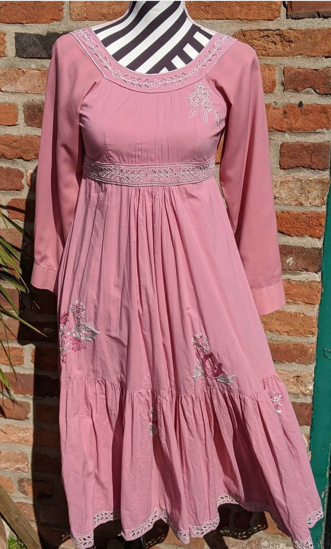 Vintage boho cotton dress, approx size 6