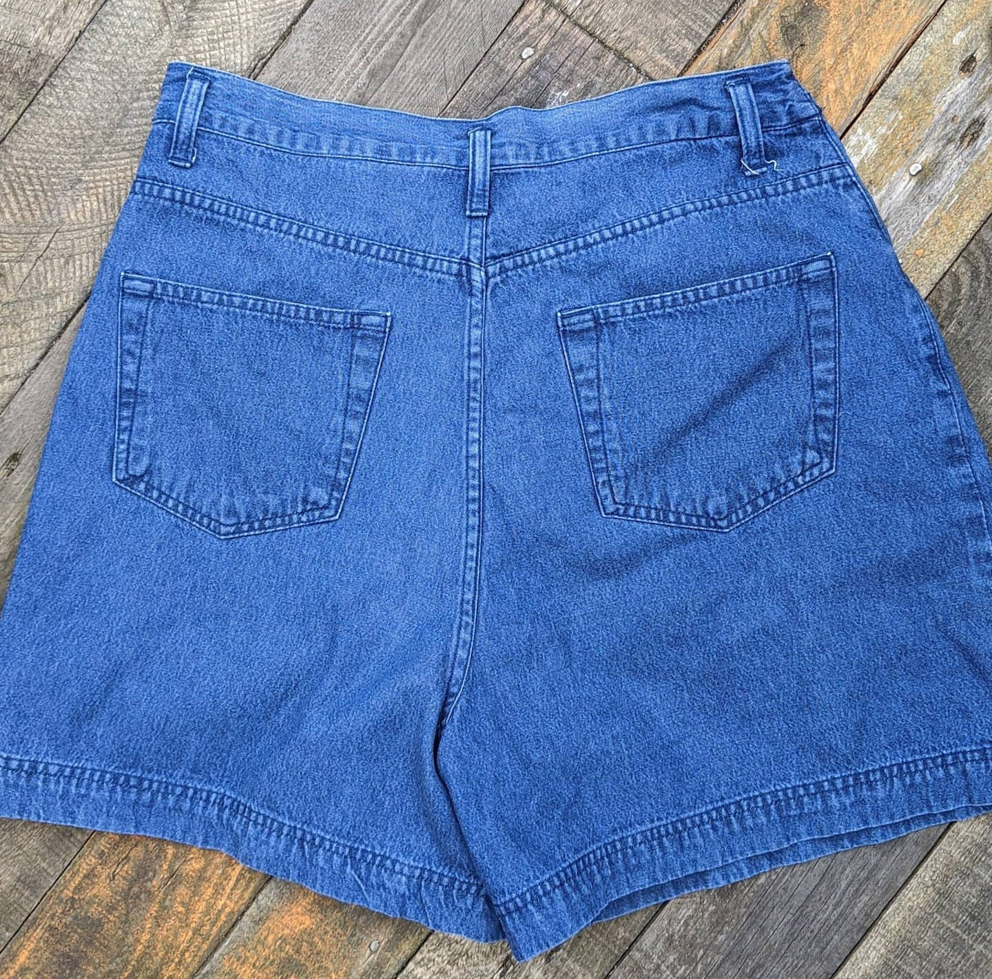 Vintage 80s high waist denim shorts, waist 30""