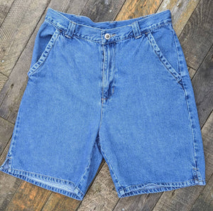 Vintage 80s high waist denim shorts Shaver Lake, waist 30""