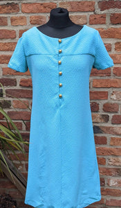 Vintage Californian 1960s textured dress approx size 12/14