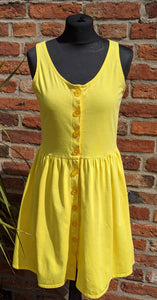 Vintage 80s bright yellow sundress approx size 12