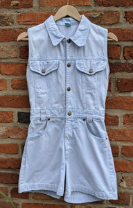 Vintage 80s denim playsuit size 8