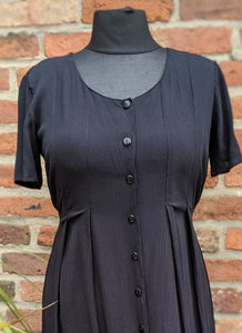 Retro black 90s dress size 14/16