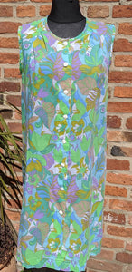 SALE Psychedelic cotton shift dress size 16/18