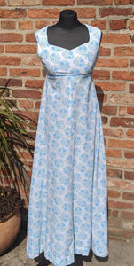 Vintage 60s cotton floral maxi dress size 8/10