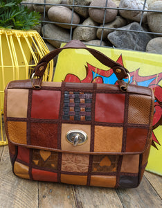 70s patchwork leather handbag