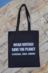 Vintage Vixen cotton tote bag