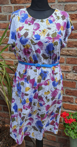 Floral jersey dress size 16/18