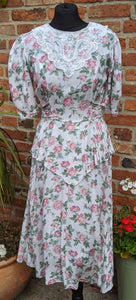 Cotton floral tea dress size 10