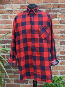 Retro checked shirt XXL