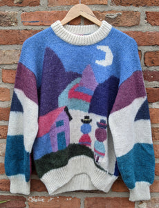 Incredible pure wool scenic character knit size M
