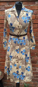 Awsome print jersey dress size 8/10