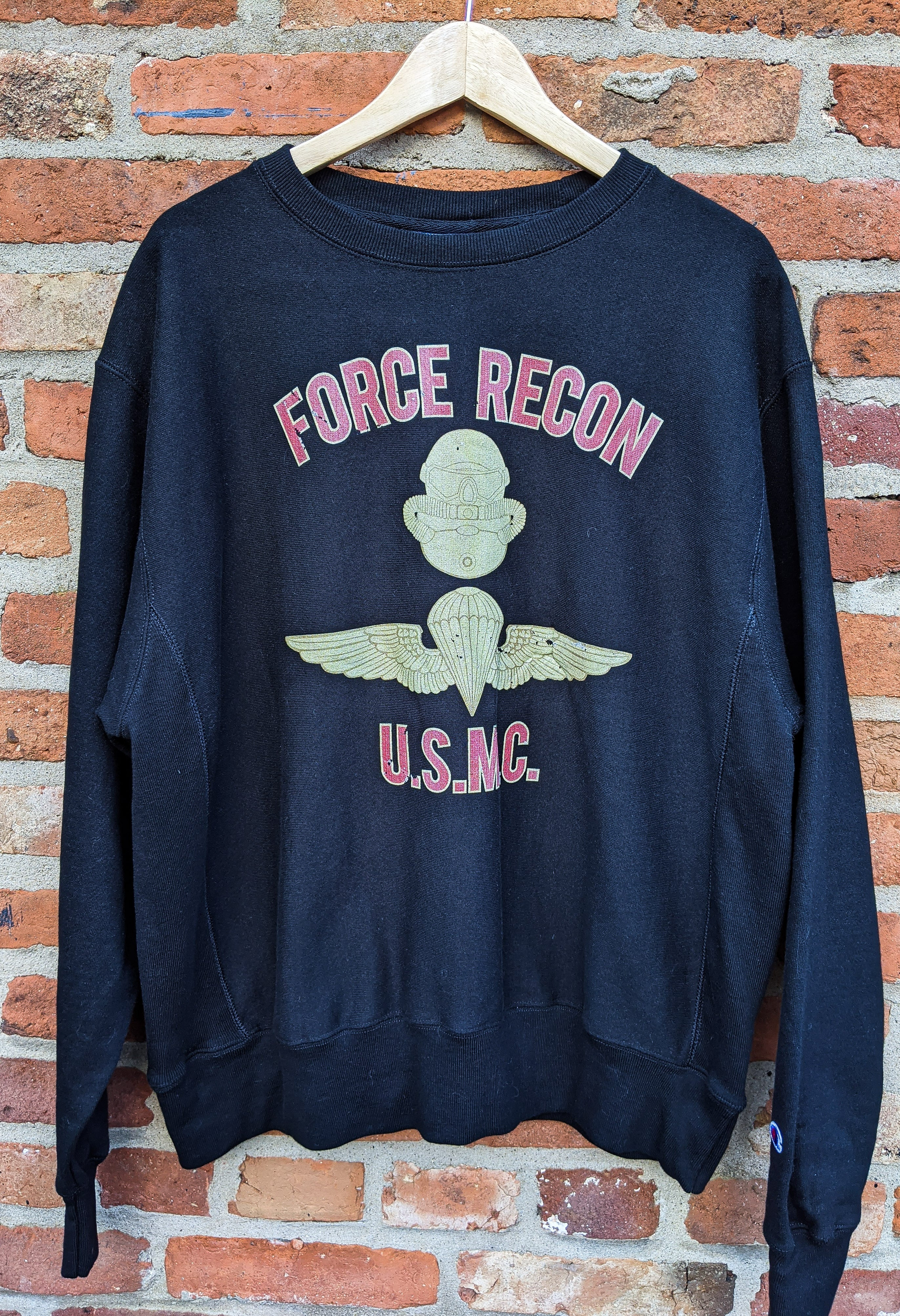 Champion Force Recon crew neck sweatshirt size L