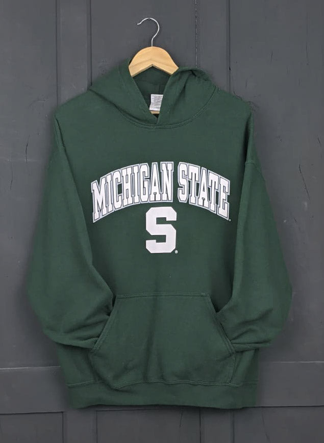 Michigan State green hoodie size L Item755