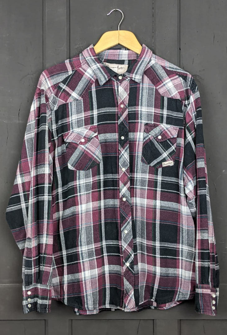 Checked flannel shirt size XL/XXL item762