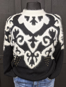 Awesome 80s statement jumper size L Item 863