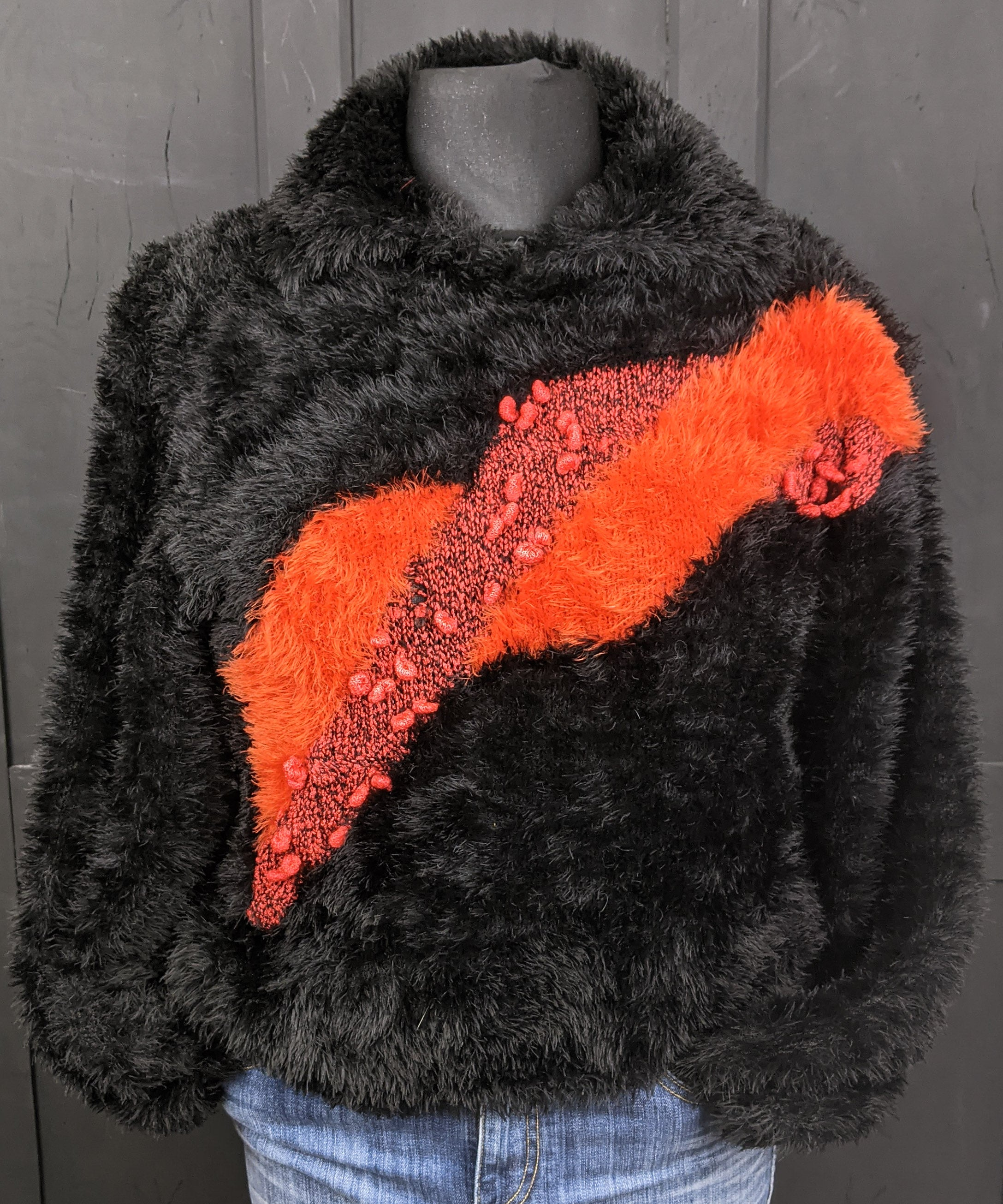 Super soft 'hairy' fluffy 80s jumper size M/L Item 864